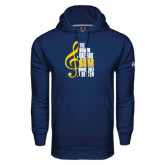 Under Armour Navy Performance Sweats Team Hoodie-Nobody Does it Better Music Note