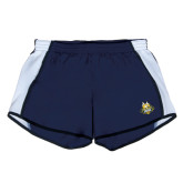 Ladies Navy/White Team Short-The Human Jukebox Official Mark