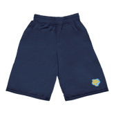 Russell Performance Navy 9 Inch Short w/Pockets-Jaguar Head