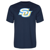 Performance Navy Tee-Interlocking SU