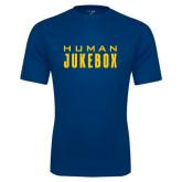 Syntrel Performance Navy Tee-Human Jukebox Wordmark