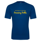 Syntrel Performance Navy Tee-Fabulous Dancing Dolls Wordmark