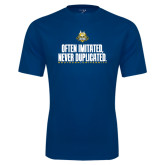 Syntrel Performance Navy Tee-Often Imitated, Never Duplicated