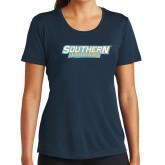 Ladies Syntrel Performance Navy Tee-Southern Jaguars