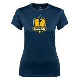 Ladies Syntrel Performance Navy Tee-Fabulous Dancing Dolls Official Mark