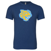 Next Level Vintage Navy Tri Blend Crew-Jaguar Head