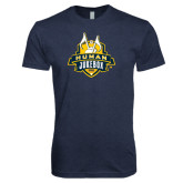 Next Level Vintage Navy Tri Blend Crew-The Human Jukebox Official Mark