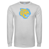 White Long Sleeve T Shirt-Jaguar Head