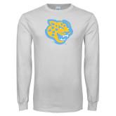 White Long Sleeve T Shirt-Jaguar Head