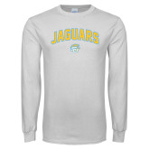 White Long Sleeve T Shirt-Arched Jaguars