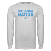 White Long Sleeve T Shirt-The Jaguar Nation