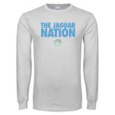 White Long Sleeve T Shirt-The Jaguar Nation