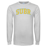 White Long Sleeve T Shirt-Arched SUBR