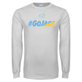 White Long Sleeve T Shirt-#GoJags