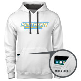 Contemporary Sofspun White Hoodie-Southern Jaguars