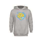 Youth Grey Fleece Hood-Jaguar Head