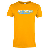 Ladies Gold T Shirt-Southern Jaguars