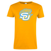 Ladies Gold T Shirt-SU w/ Jaguar