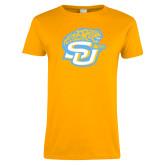 Ladies Gold T Shirt-SU w/ Jaguar