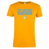 Ladies Gold T Shirt-The Jaguar Nation