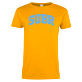 Ladies Gold T Shirt-Arched SUBR