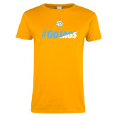 Ladies Gold T Shirt-#GoJags