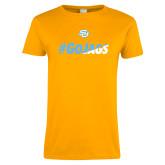 Ladies Gold T Shirt-#GoJags