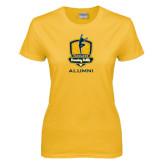 Ladies Gold T Shirt-Fabulous Dancing Dolls - Alumni
