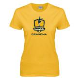 Ladies Gold T Shirt-Fabulous Dancing Dolls - Grandma