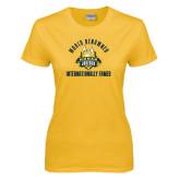 Ladies Gold T Shirt-World Renowed