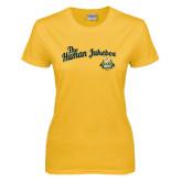 Ladies Gold T Shirt-The Human Jukebox Script