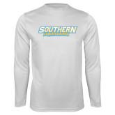 Performance White Longsleeve Shirt-Southern Jaguars