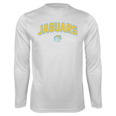 Syntrel Performance White Longsleeve Shirt-Arched Jaguars