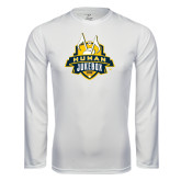 Syntrel Performance White Longsleeve Shirt-The Human Jukebox Official Mark