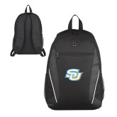 Atlas Black Computer Backpack-Interlocking SU