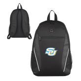 Atlas Black Computer Backpack-Interlocking SU