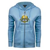 ENZA Ladies Light Blue Fleece Full Zip Hoodie-The Human Jukebox - Grandma