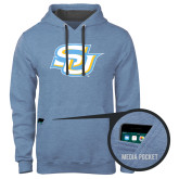 Contemporary Sofspun Carolina Heather Hoodie-Interlocking SU