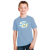 Youth Light Blue T Shirt-Interlocking SU