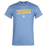 Light Blue T Shirt-Slanted Jaguars w/ Logo