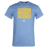 Light Blue T Shirt-Southern University Jaguars Stacked