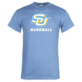 Light Blue T Shirt-Baseball