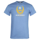 Light Blue T Shirt-Southern University Football Helmet