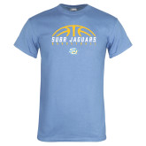 Light Blue T Shirt-SUBR Jaguars Basketball Half Ball