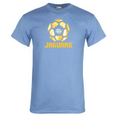 Light Blue T Shirt-Jaguars Soccer Geometric
