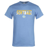Light Blue T Shirt-Southern University Jaguars Softball Texture