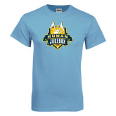 Light Blue T Shirt-The Human Jukebox Official Mark Distressed