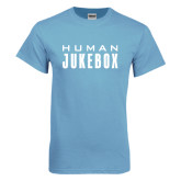 Light Blue T Shirt-Human Jukebox Wordmark