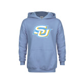 Youth Light Blue Fleece Hood-Interlocking SU