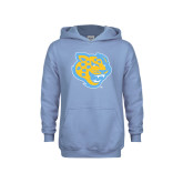 Youth Light Blue Fleece Hoodie-Jaguar Head